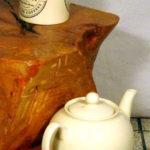 ceppo di tronco a tavolino