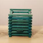 abat-jour con bastoncini color blu patent (A)