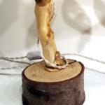 abat-jour su ramo con paralume in stoffa