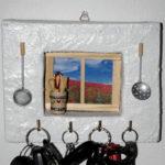 appendi chiavi bianco da muro stile cucina (d)