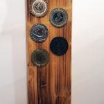 cavatappi da parete con secchiello e scritta (d)