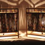 coppia abat-jour con tessuto elastico