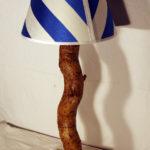 lampada con paralume stoffa colorato