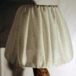 lampada da tavolo con paralume stoffa bianco