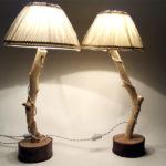 lampada su ramo con filo di stoffa