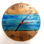 orologio da parete azzurro (a)