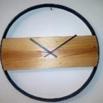 orologio da parete con anello di botte (b)