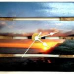 orologio da parete con fotografia tagliata (a)