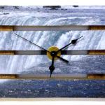 orologio di legno con decoupage (c)