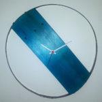 orologio di legno con doga di botte (c)