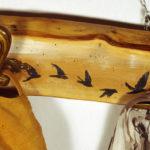 porta abiti in legno
