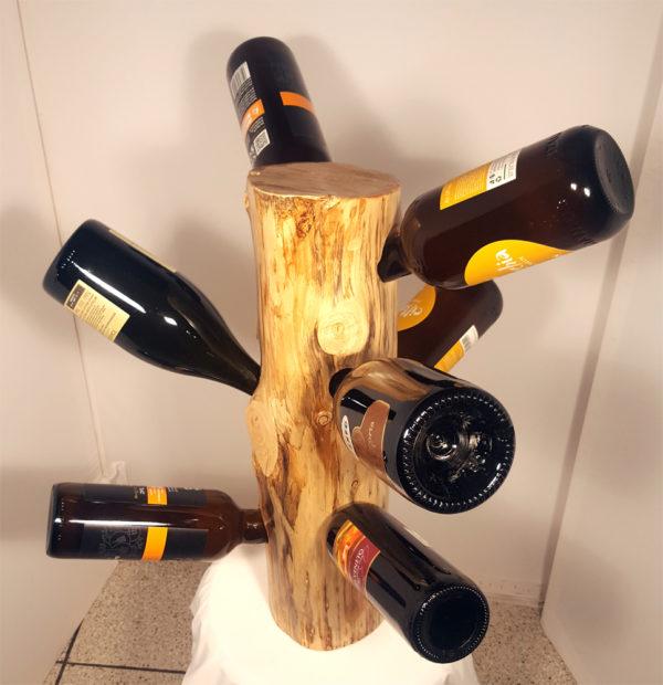 porta bottiglie su tronchetto