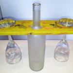 porta calici con bottiglia centrale di supporto (a)