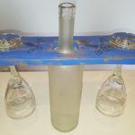 porta calici con bottiglia centrale di supporto (d)
