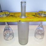 porta calici con bottiglia centrale di supporto (f)