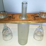 porta calici con bottiglia centrale di supporto (h)