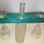 porta calici con bottiglia centrale di supporto (k)