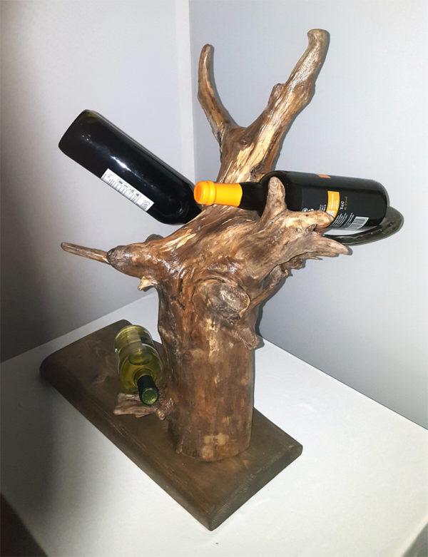 portabottiglie su tronco