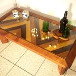 tavolino da caffe di legno