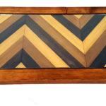 tavolino da the con mosaico in legno