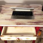 tavolo da corridoio restaurato shabby