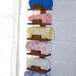 7 asciugamani marrone chiaro
