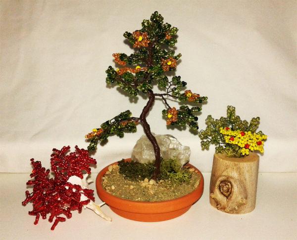 composizione mista bonsai di perline (B)