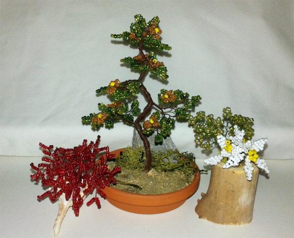 composizione mista bonsai di perline (C)