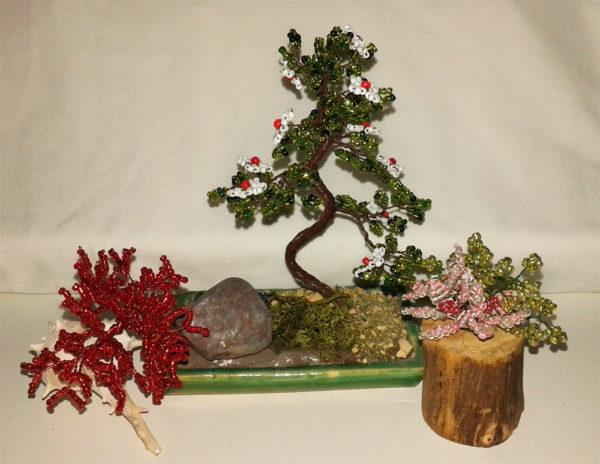 composizione mista bonsai di perline (D)