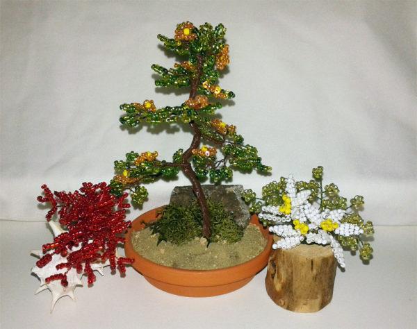 composizione mista bonsai di perline (F)