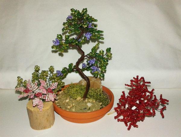 composizione mista bonsai di perline (H)