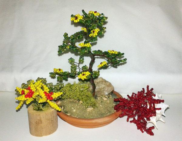 composizione mista bonsai di perline (I)