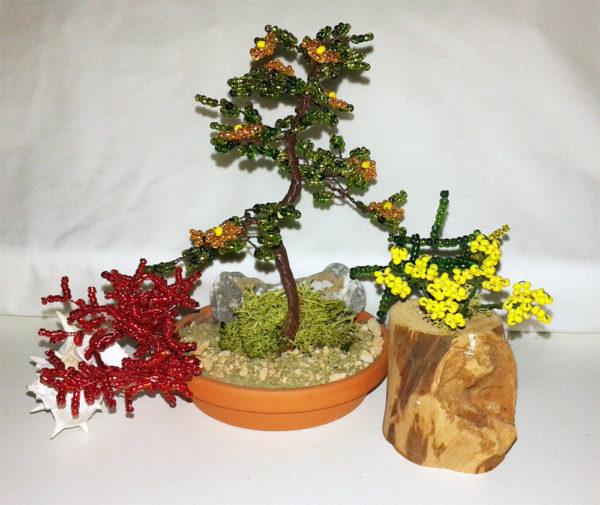 composizione mista bonsai di perline (J)