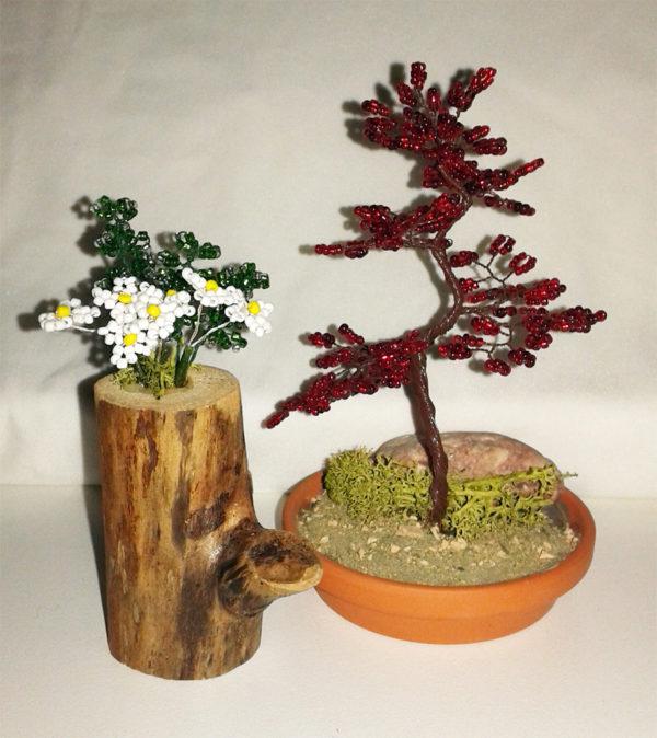 composizione mista bonsai di perline (L)