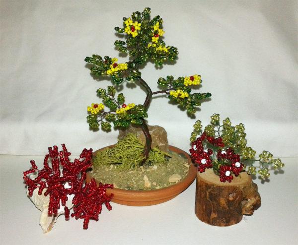 composizione mista bonsai di perline (P)