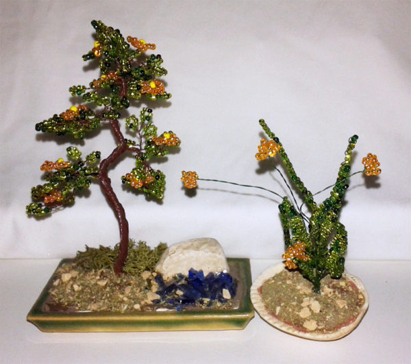 composizione mista bonsai di perline (Q)