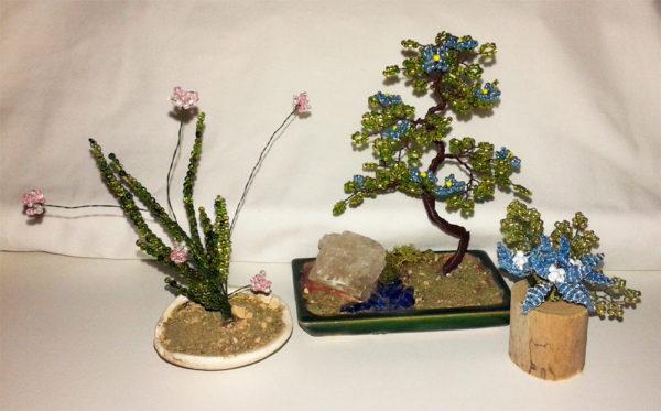 composizione mista bonsai di perline (S)