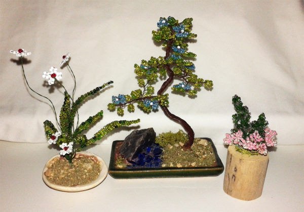 composizione mista bonsai di perline (T)