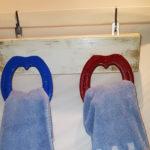 porta asciugamani con ferri colorati