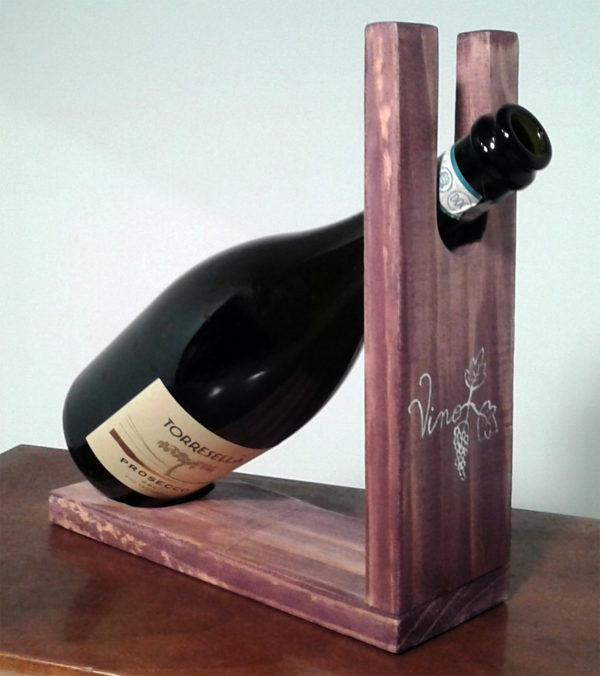 porta bottiglia singolo (f)